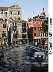 Bridge over Venice canal.