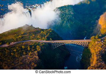 Bridge over Victoria Falls - Bridge at Victoria Falls, a...