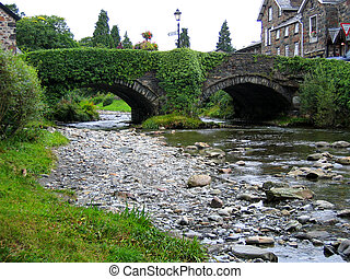 Bridge over water - Bridge in small town Wales