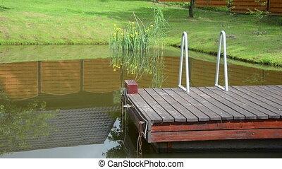bridge pond water reflect