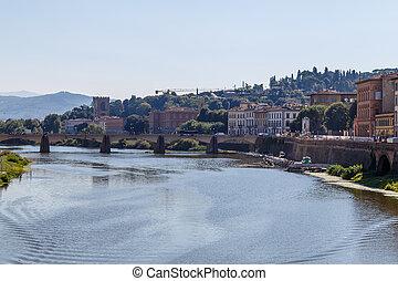 Bridge Ponte alle Grazie over the Arno River