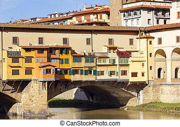 bridge Ponte Vecchio over the Arno River in Florence