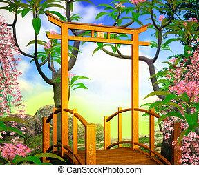 Bridge Premade Chines Background