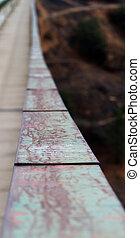 Bridge railing abstract