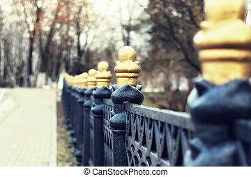 Bridge railing spring