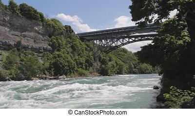 bridge., rivière, tourbillon, niagara