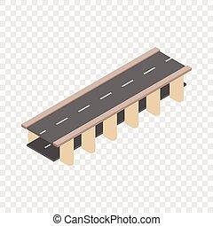 Bridge road isometric icon