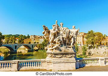 Bridge Sculpture, Rome, Italy