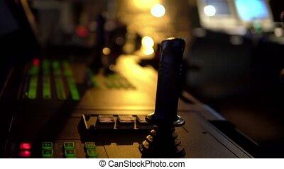 Bridge ship equipment of offshore dp vessel thruster pitch...