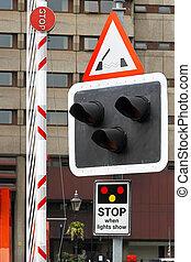 Bridge sign lights