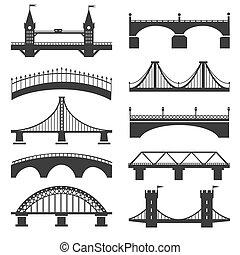 Bridge silhouette icons