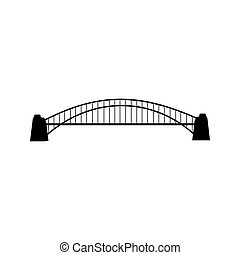 Bridge silhouette illustration