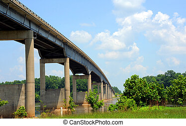 Bridge Spans Arkansas River