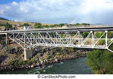 Bridge Spans Yellowstone