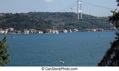 bridge - Fatih Sultan Mehmet Bridge at istanul Turkey