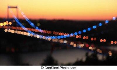 bridge - de focus traffic light on the bridge