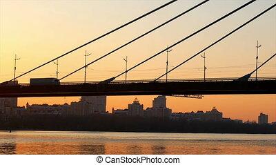 Bridge sunset view river