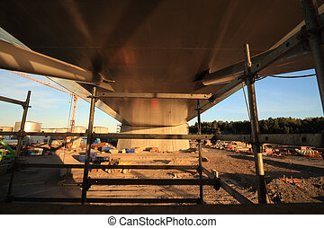 Bridge support centered view Public project (tax financed):...