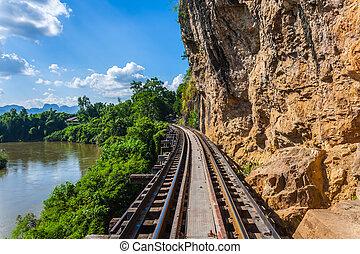 Railway Bridge tham krasae Kanchanaburi thailand.