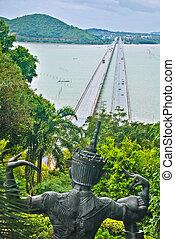 Bridge Tinsulanonda the longest bridge in thailand