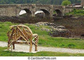 Bridge to Eilean Donan Castle, Scottish Highlands
