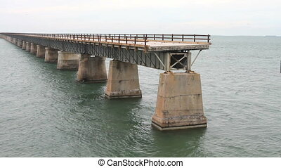 Bridge to Nowhere - An incomplete bridge at Pigeon Key in...