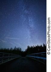 Bridge to the Stars on Night Sky
