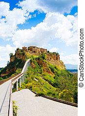 Bridge to town and castle of Bagnoregio, Lazio, Italy