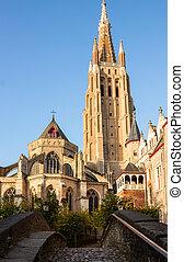 bridge to Vrouwekerk church, Bruges - bridge to Vrouwekerk...
