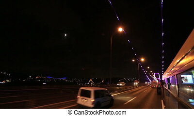 Bridge Traffic 2 - traffic on the bridge at Istanbul Turkey
