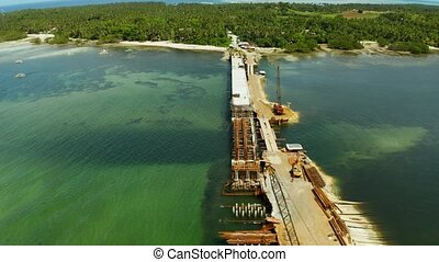 Bridge under construction on the island of Siargao. - Heavy...