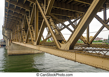 Bridge Underside - View of the underside of the Burnside...