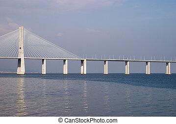 Bridge Vasco da Gama on Rio Tejo, Lisbon, Portugal