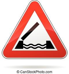 bridge warning sign