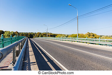 Bridge with automobile road