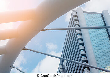 Bridge with the sunlight.