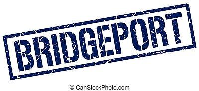 Bridgeport blue square stamp