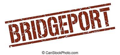 Bridgeport brown square stamp