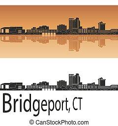 Bridgeport, CT skyline - Bridgeport skyline in orange ...