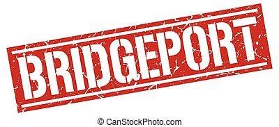 Bridgeport red square stamp