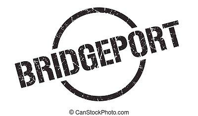 Bridgeport stamp. Bridgeport grunge round isolated sign