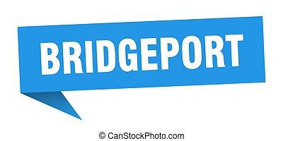 Bridgeport sticker. Blue Bridgeport signpost pointer sign