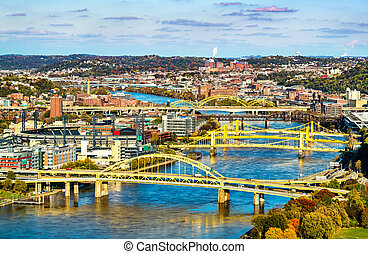 Bridges across the Allegheny River in Pittsburgh, Pennsylvania