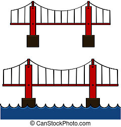 Bridges - Cartoon illustration showing a bridge standing by ...
