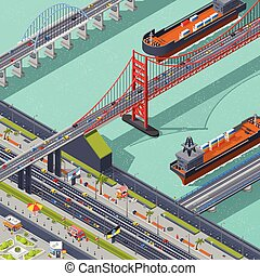 Bridges Isometric Composition