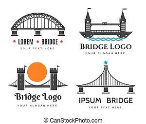 Bridges logo set