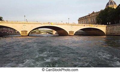 Bridges of Paris - Brisges of Paris from the water, France, ...