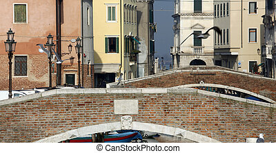 bridges of the city of chioggia, province of Venice