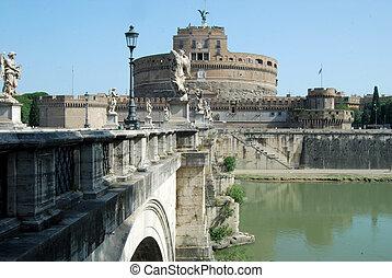 Bridges over the Tiber river in Rome - Italy