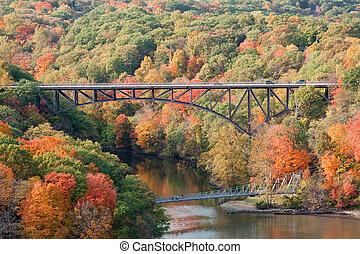 Bridges - Popolopen Bridge and Fort Montgomery foot bridge...